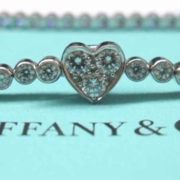 5e622ae75 Tiffany & Co. Jewelry | Tiffany Co Heart Platinum 197ct 58 Diamond ...
